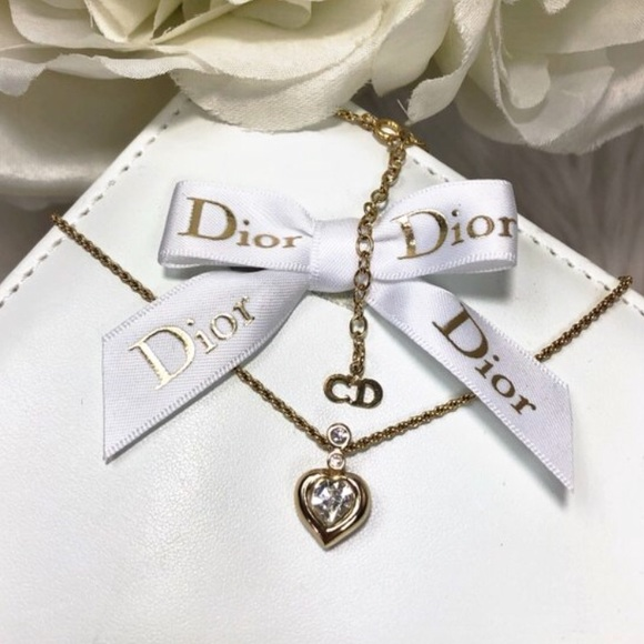 Dior Jewelry - SOLD🌹Vtg Christian Dior Gold and Crystal Necklace